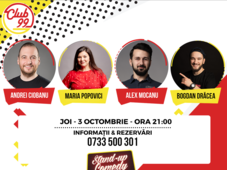 Stand up comedy - Maria Popovici, Andrei Ciobanu, Alex Mocanu si Bogdan Drăcea in deschidere