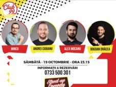 Stand up comedy cu Mincu, Andrei Ciobanu, Alex Mocanu și Bogdan Drăcea
