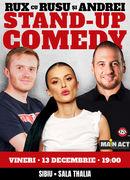 Sibiu: Stand-up Comedy RUX cu Rusu si Andrei
