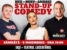 Iasi: Stand-up Comedy RUX cu Rusu si Andrei