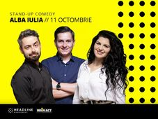 Alba Iulia: Stand-up comedy cu George Tănase, Radu Bucălae și Ioana State