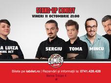 Standup cu Sergiu, Toma, Mincu & Sorin la ComicsClub