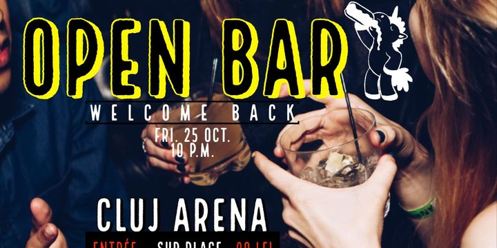 Open Bar Welcome Back