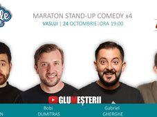 Stand up Comedy Maraton x4 la Vaslui - Bobi Dumitras, Gabriel Gherghe, Victor Dragan si Petrica Istoc