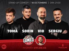 Standup cu Toma, Sorin, Vio și Sergiu la Comicsclub