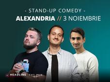 Alexandria: Stand-up comedy cu Mane, Cortea și Florin Gheorghe