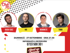 Stand up comedy cu Radu Isac, Mihai Bobonete, Vio si Toma