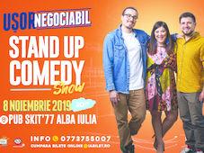 """""""Ușor negociabil"""" stand up show cu Mincu, Maria și Banciu"""