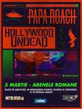 Concert Papa Roach si Hollywood Undead pe 3 martie la Arenele Romane