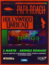 Concert Papa Roach si Hollywood Undead