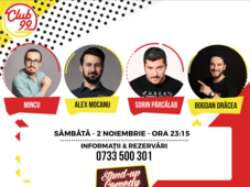 Stand up comedy cu Mincu, Sorin Pârcălab, Alex Mocanu si Bogdan Drăcea