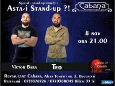 """Stand-up comedy Special : """"Asta-i Stand-up?!"""" cu Teo & Victor Bara"""