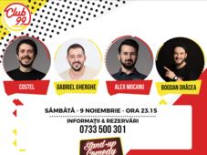 Stand up comedy cu Costel, Gabriel Gherghe, Alex Mocanu si Bogdan Drăcea