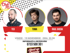 Stand up comedy cu Raul Gheba, Teo si Toma