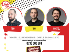 Stand up comedy cu Teo, Vio, Costel și invitat
