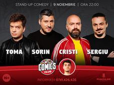 Stand-up cu Cristi, Sergiu, Sorin și Toma la ComicsClub