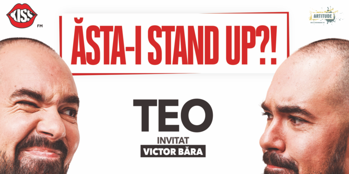 """Brașov: """"Ăsta-i stand up?!"""" Teo – Invitat: Victor Băra"""
