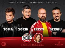 Stand-up cu Toma, Cristi, Sorin & Sergiu la ComicsClub!