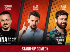 Stand-up comedy night cu Sergiu Floroaia, Raul Gheba, Alex Mocanu & Sergiu Mirica