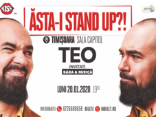 "Timișoara: Stand up comedy ""Asta-i stand up?!"" TEO – Invitat Victor Băra, in deschidere"