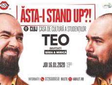 """Cluj: Stand up comedy """"Asta-i stand up?!"""" TEO – Invitat Victor Băra și Sergiu Mirică in deschidere"""