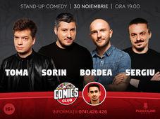 Stand-up cu Toma, Sorin, Bordea și Sergiu la ComicsClub!