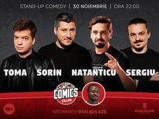 Stand-up cu Toma, Sorin, Natanticu și Sergiu la ComicsClub!