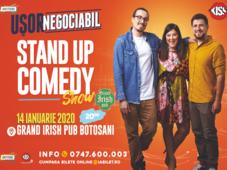 Botosani: Stand up comedy cu Banciu, Maria Popovici si Mincu ''Ușor negociabil''