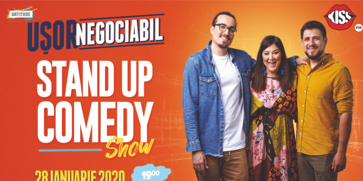 Brașov: Stand up comedy cu Banciu, Maria Popovici si Mincu ''Ușor negociabil''