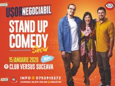 Suceava: Stand up comedy cu Banciu, Maria Popovici si Mincu ''Ușor negociabil''