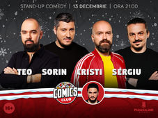 Stand-up cu Cristi, Sergiu, Teo și Sorin la ComicsClub!