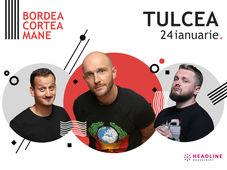 Tulcea: Stand-up comedy cu Bordea, Cortea și Mane Voicu