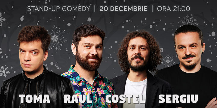 Standup cu Toma, Raul, Costel și Sergiu la ComicsClub!