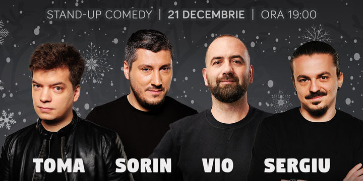 Standup cu Toma, Sorin, Vio și Sergiu la ComicsClub!