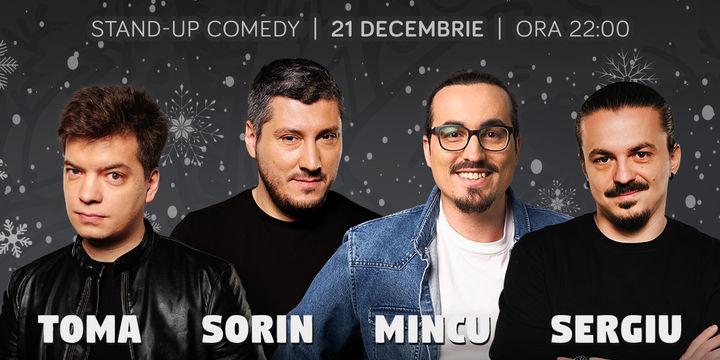 Standup cu Toma, Sorin, Mincu și Sergiu la ComicsClub!