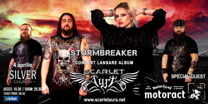"""Bucuresti: Scarlet Aura - Lansare """"Stormbreaker"""" la Silver Church, Invitati speciali - MotorAct"""
