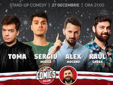 Standup cu Toma, Mirică, Alex Mocanu și Raul la ComicsClub