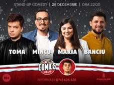 Standup cu Toma, Mincu, Maria și Banciu la ComicsClub