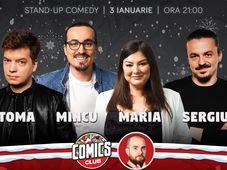 Stand-up cu Toma, Maria, Mincu și Sergiu la ComicsClub