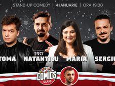 Stand-up cu Toma, Natanticu, Maria și Sergiu la ComicsClub