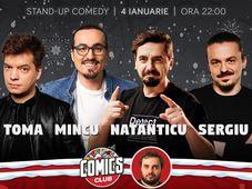 Stand-up cu Toma, Mincu, Natanticu și Sergiu la ComicsClub