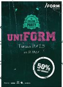 UniFORM Party | 50% OFF Drinks at /FORM Space