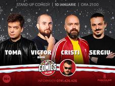 Stand-up cu Toma, Victor, Cristi si Sergiu la ComicsClub!