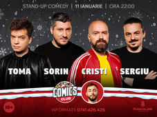 Stand-up cu Cristi, Toma, Sergiu si Sorin la ComicsClub!