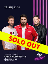 SOLD OUT Stand-up comedy cu Micutzu, Bobonete și Radu Isac