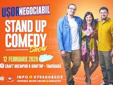 Timișioara: Stand up comedy cu Banciu, Maria Popovici si Mincu ''Ușor negociabil''