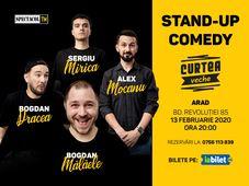 Arad: Stand Up 4 Stand Up cu Mocanu, Mălăele, Mirică, Drăcea
