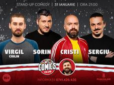 Stand-up cu Virgil, Cristi, Sergiu și Sorin la ComicsClub