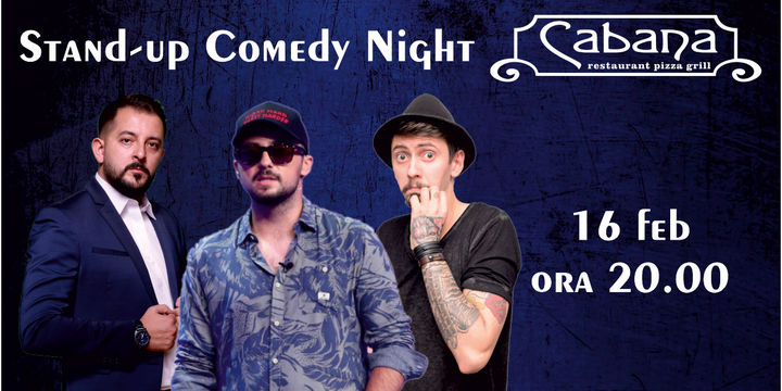 Stand Up Comedy cu Gabriel Gherghe, George Tinta & Bogdan Nistor