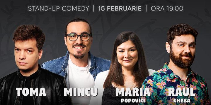 Stand-up cu Toma, Mincu, Maria si Raul la ComicsClub!